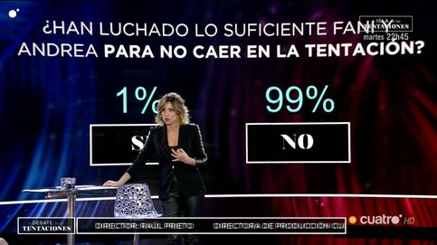 La audiencia de las 'Tentaciones', contra Andrea y Fani: el 99% no confía en ellas