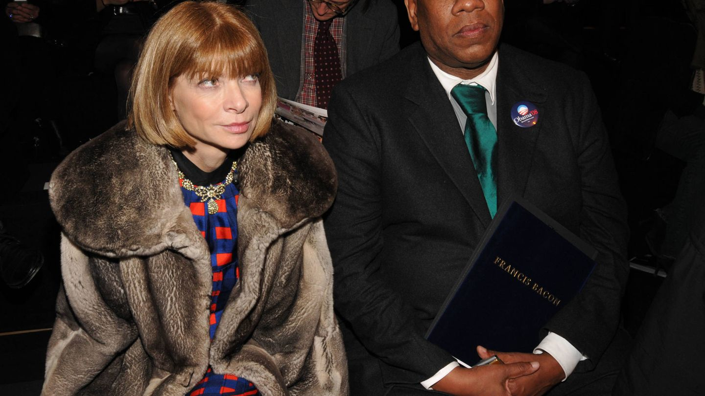 André Leon Talley y Anna Wintour. (Getty)