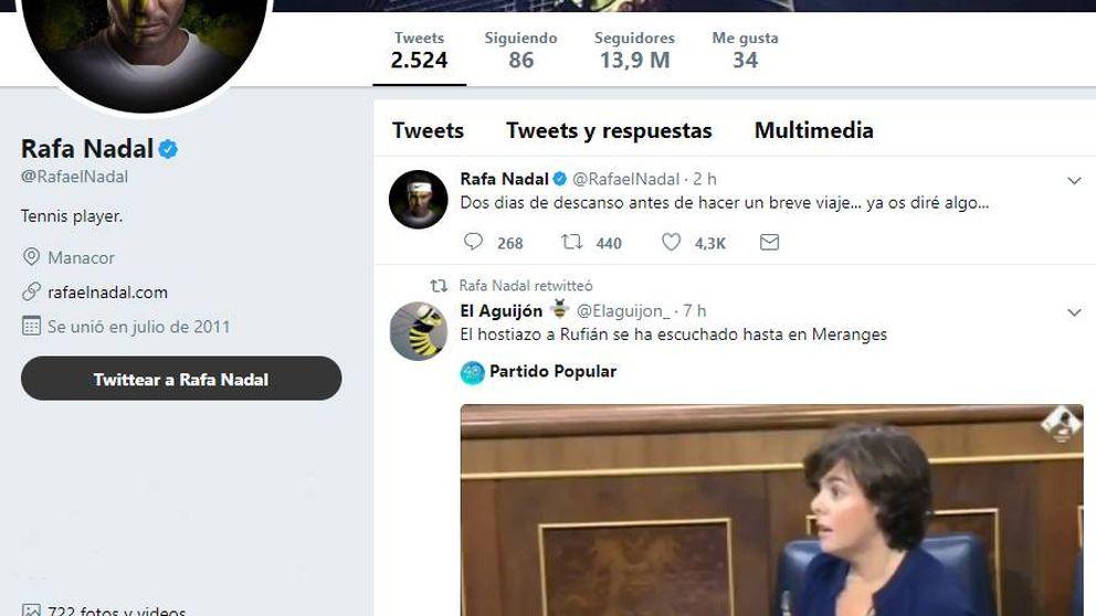Nadal difunde un vídeo contra Rufián y luego asegura que ha sido un 'hackeo'