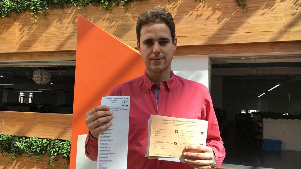 He recibido ahora las papeletas para votar el 20 de diciembre