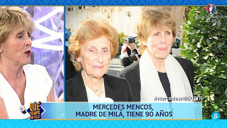 Mercedes Milá, en '¡Qué tiempo tan feliz!'.  (Telecinco)
