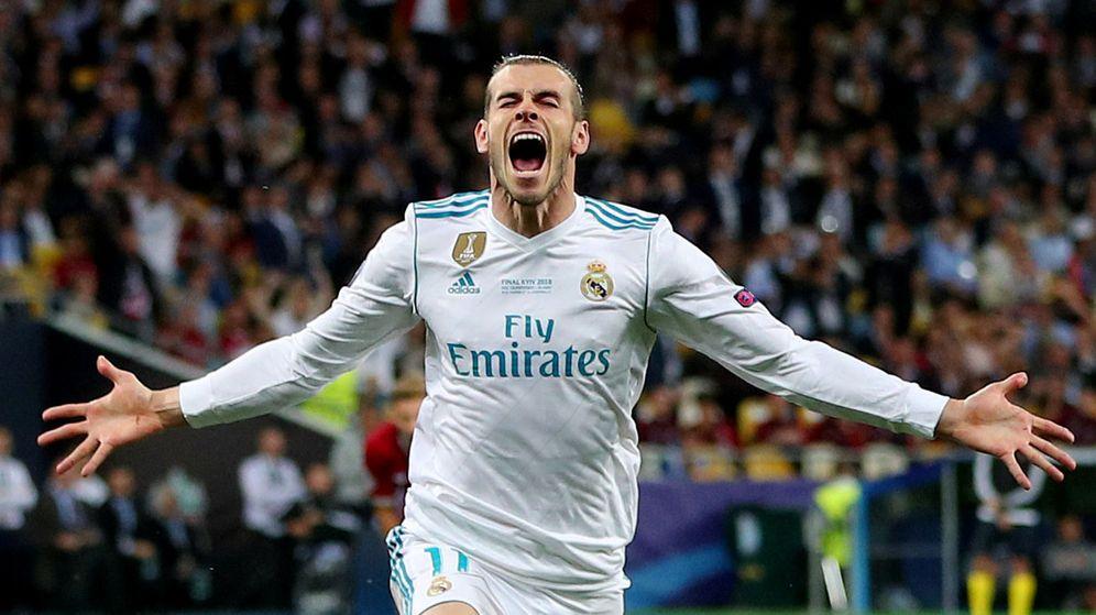 Foto: Gareth Bale celebra su gol de chilena al Liverpool en la final de la Champions en Kiev. (Reuters)