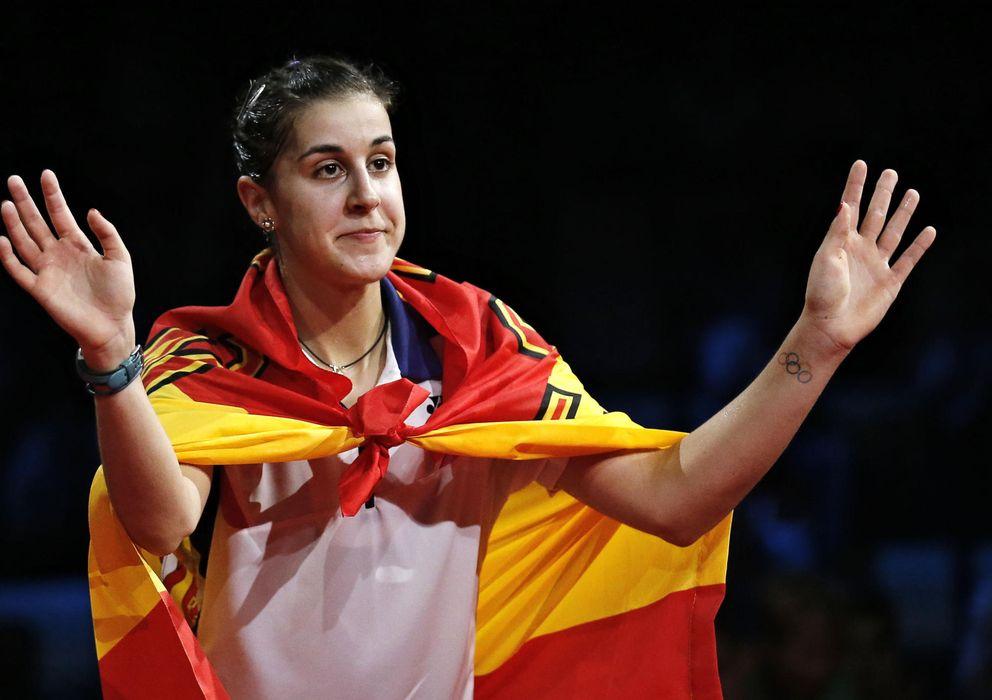 Foto: Carolina Marín, campeona del mundo de bádminton