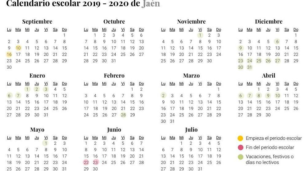 Calendario Escolar Cantabria 2020.Calendario Escolar Del Curso 2019 2020 Asi Quedan Las