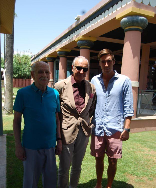 Foto: Ricardo Arranz, conde de Villapadierna, junto a su hijo Ricardo (derecha).