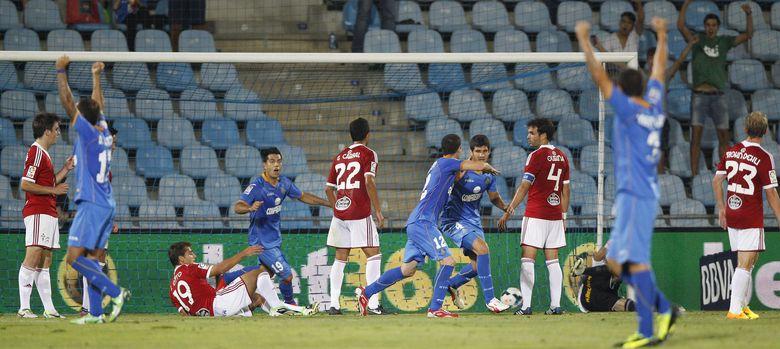 Foto: El Getafe-Celta apenas contó con 5.000 espectadores (Efe).