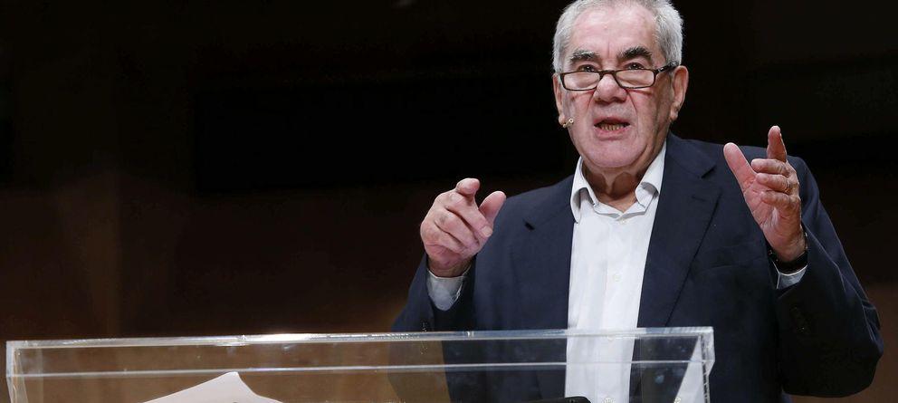 Foto: Ernest Maragall, en el cierre de campaña de ERC para las europeas. (Efe)