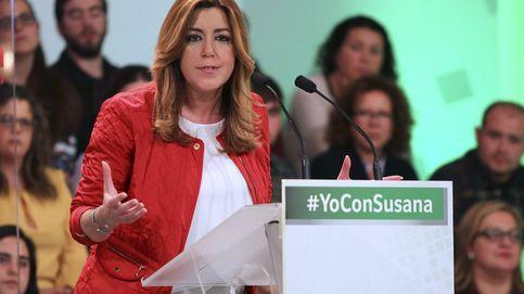 Susana Díaz, única candidata no arropada por líderes nacionales