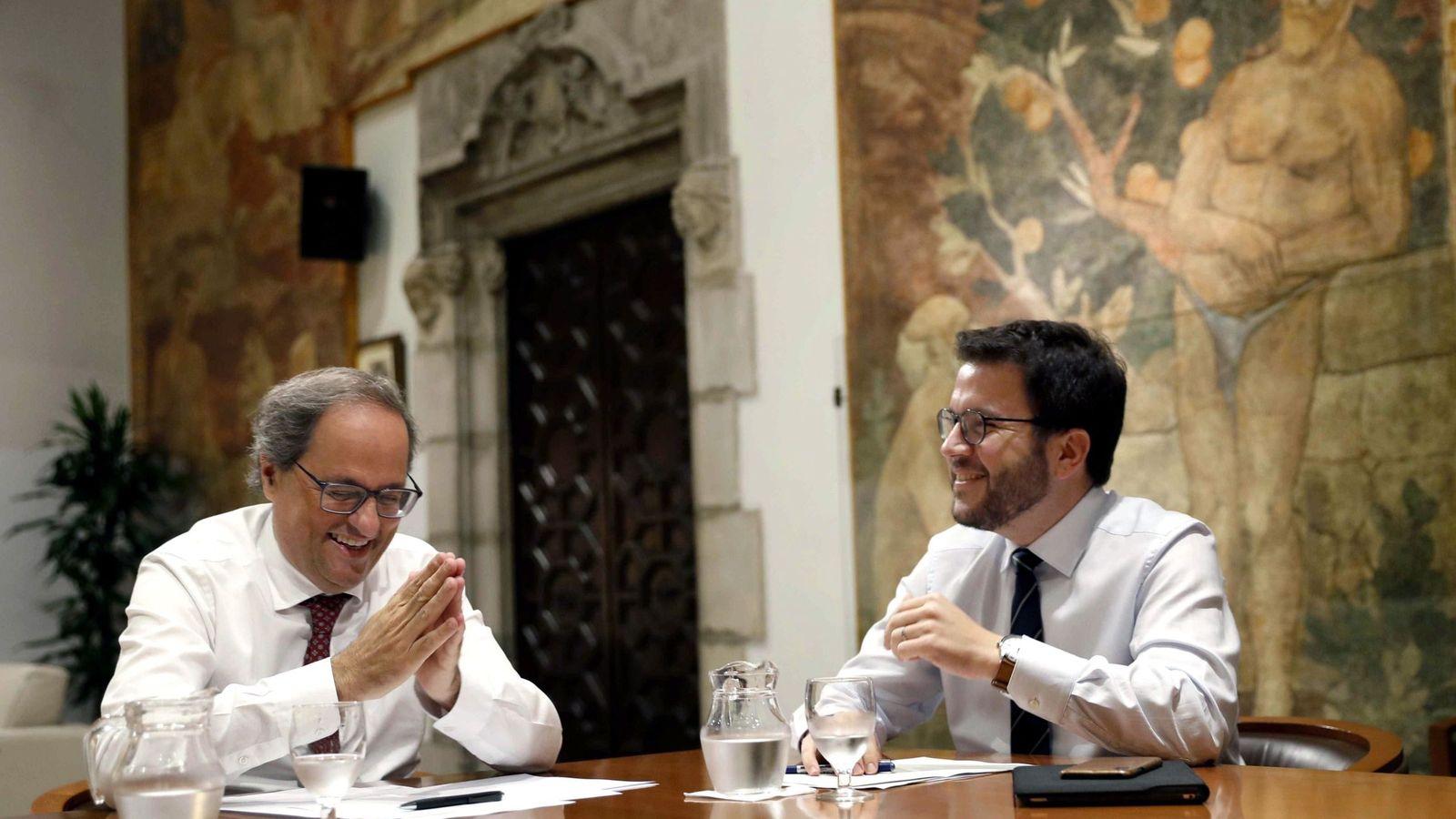 Foto: El presidente de la Generalitat, Quim Torra (JxCAT), y su vicepresidente, Pere Aragonès (ERC). (EFE)