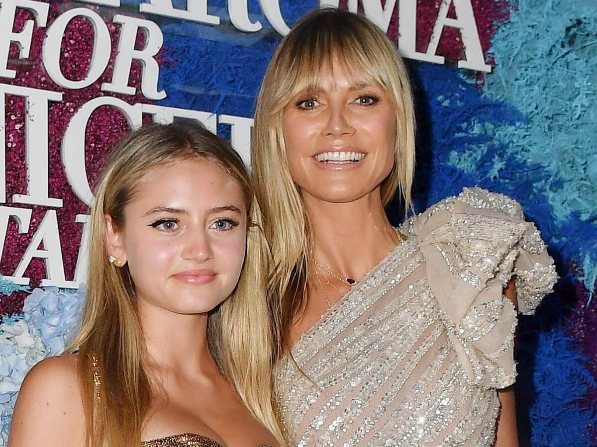 Foto: Heidi Klum y su hija Lenni en la gala de LuisaViaRoma for Unicef. (Getty)