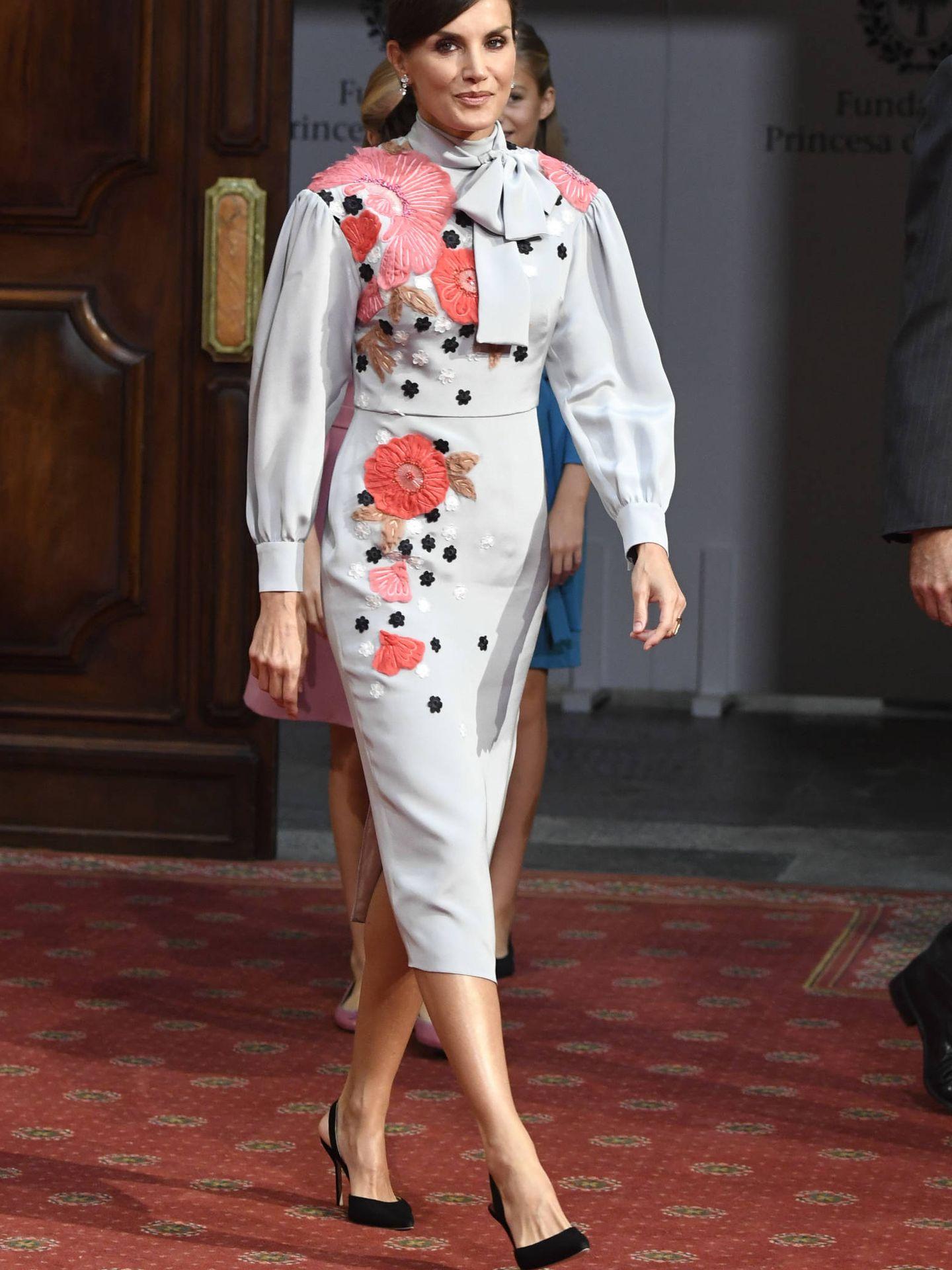 La reina Letizia, este viernes en Oviedo. (Limited Pictures)
