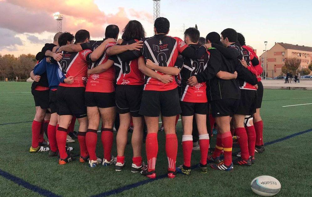Foto: El Vallecas Rugby Unión, durante un partido.