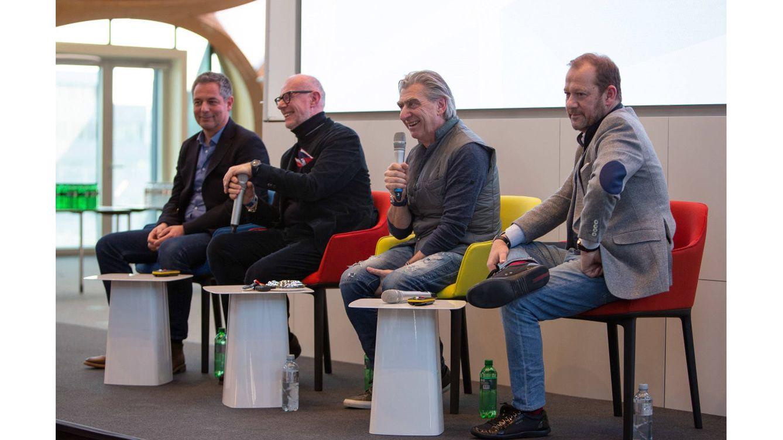 Foto: Momento de la presentación oficial del Flymagic de Swatch.