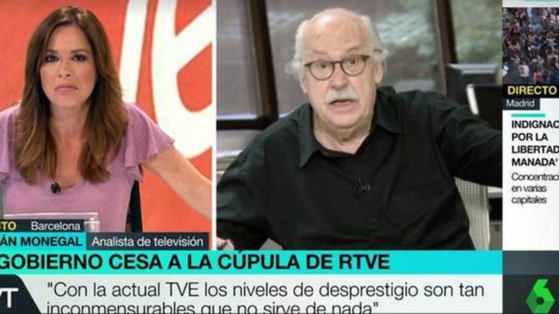 Mamen Mendizabal y Ferrán Monegal, en 'Más vale tarde'.