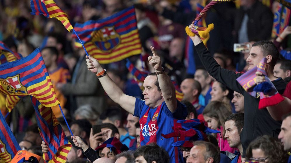 Foto: Aficionados del Barcelona en una imagen de archivo. (EFE)