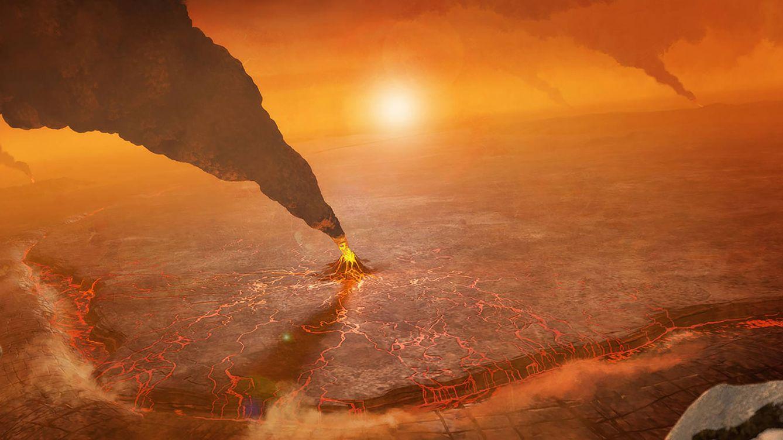 Foto: Visualización de un volcán en la superficie de Venus (Peter Rubin/NASA/JPL-CalTech)