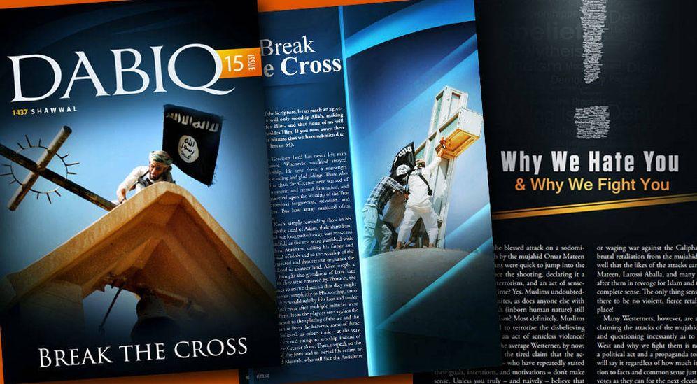 Foto: Imagen del último número de Dabiq, la revista oficial del Estado Islámico.