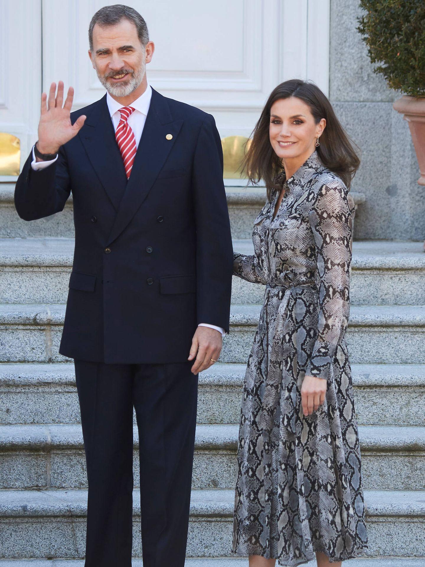 La Reina, con vestido de Massimo Dutti. (LP)