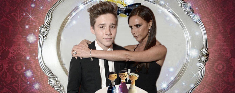Foto: Victoria con su hijo Brooklyn (Fotomontaje)