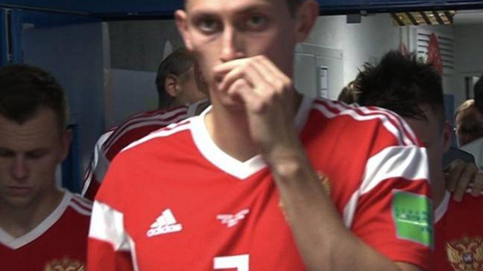 Foto: El jugador ruso Kutepov, antes de iniciar el segundo tiempo ante Croacia