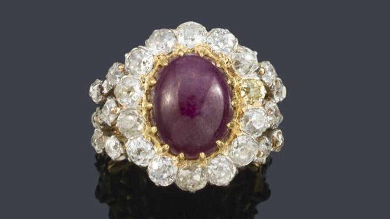El anillo que perteneció a la reina Victoria Eugenia. (Segre)