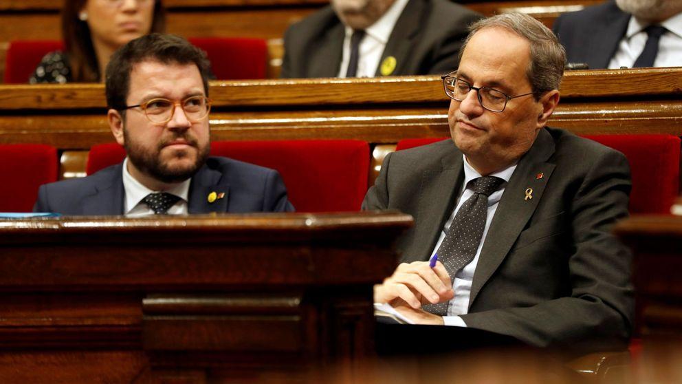Torra sopesa una crisis de Govern que saque a Aragonès de la vicepresidencia