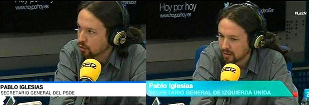 Foto: TVE nombra a Pablo Iglesias secretario general del PSOE y de IU