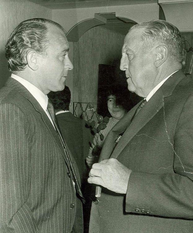 Foto: Di Stéfano y Santiago Bernabéu