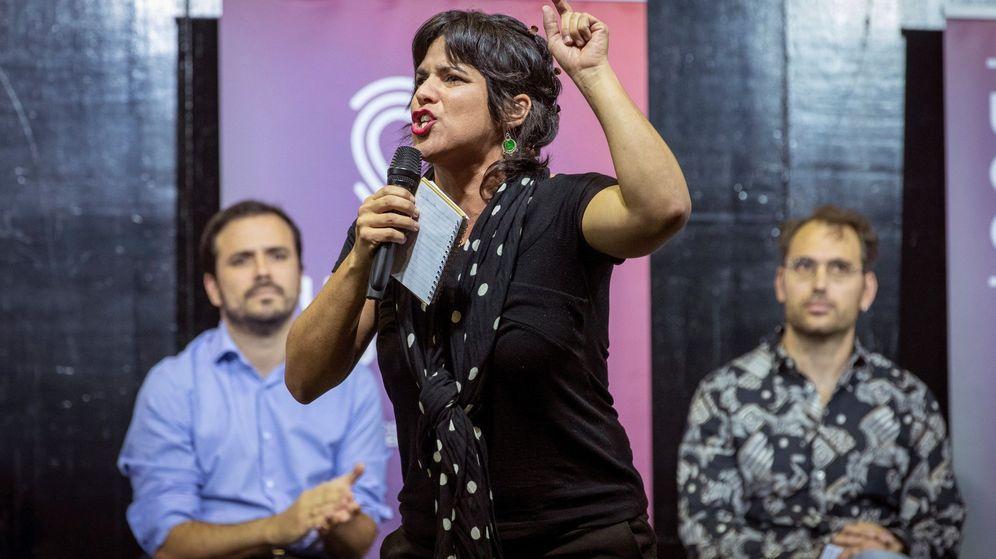 Foto: La coordinadora general de Podemos Andalucía, Teresa Rodríguez, en un acto en Sevilla. (EFE)