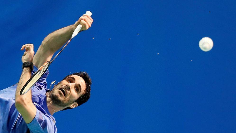 Foto: El tres veces olímpico Pablo Abián, jugador del Recreativo IES La Orden, de Huelva. (EFE)