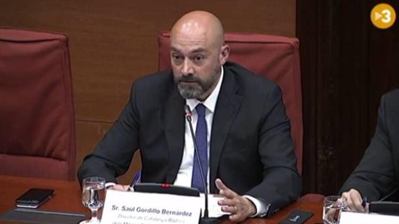 Saül Gordillo, en la sesión de control de CCMA. (TV3)