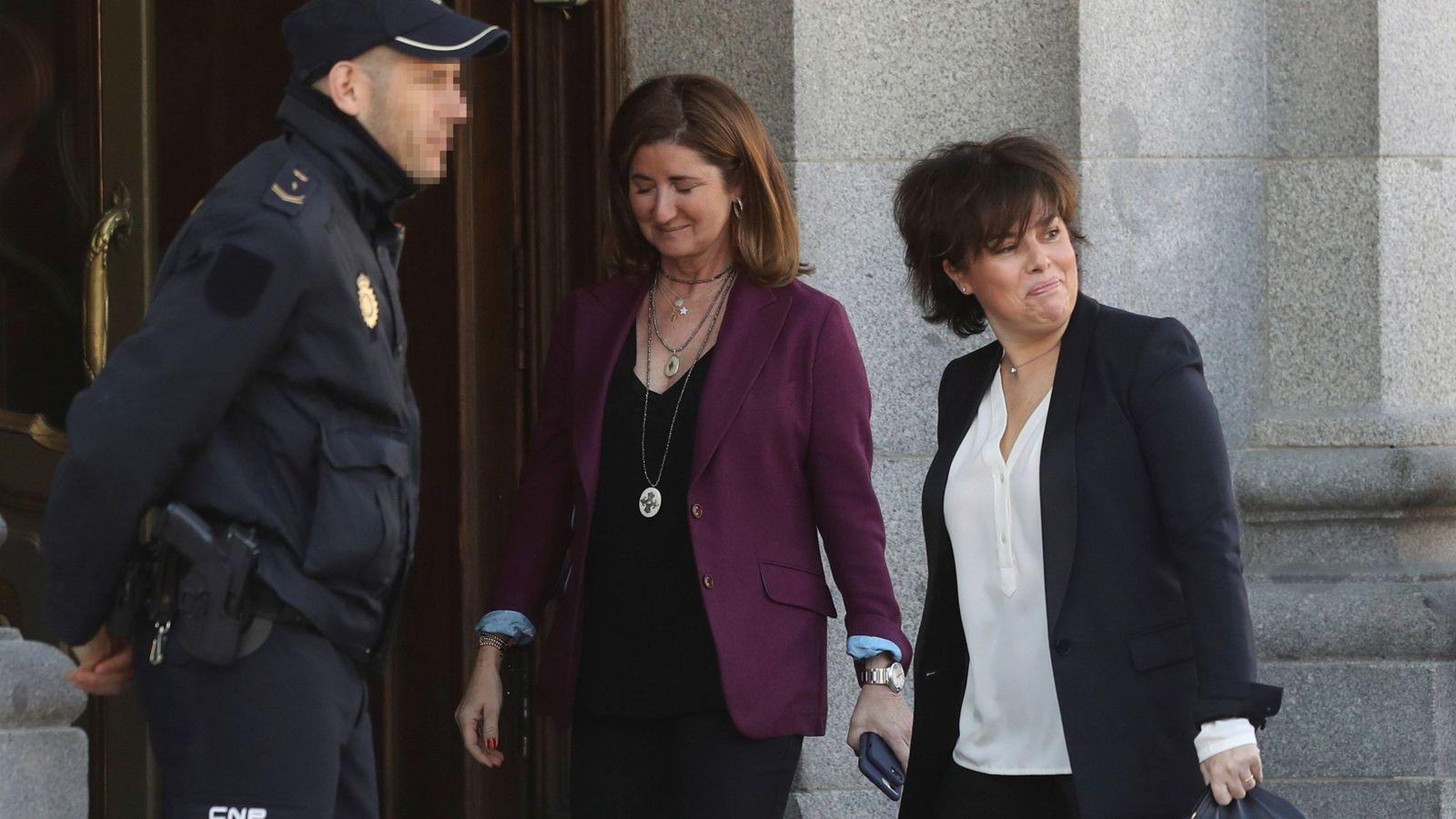 Foto: Saenz de Santamaría llega al Supremo. (EFE)