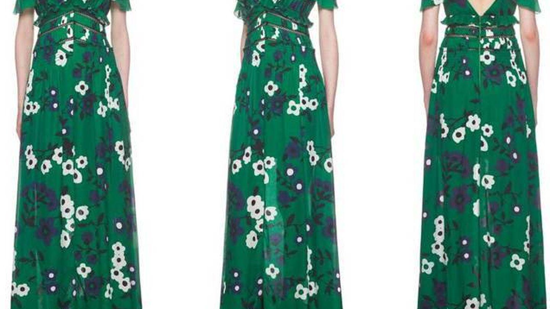 El vestido de Meghan Markle de Self Portrait. (Cortesía)