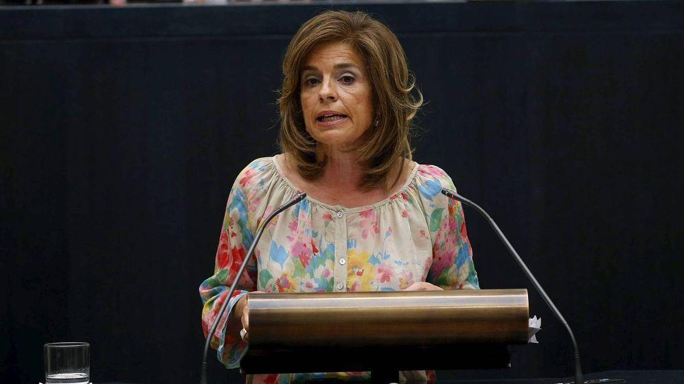 Foto: La exalcaldesa de Madrid Ana Botella, durante su discurso en el debate sobre el estado de la ciudad en 2012. (EFE)