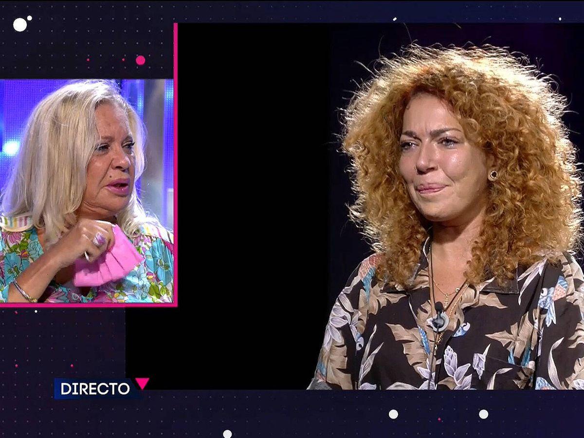 Foto: Bárbara Rey y Sofía Cristo, en 'Secret Story'. (Mediaset)