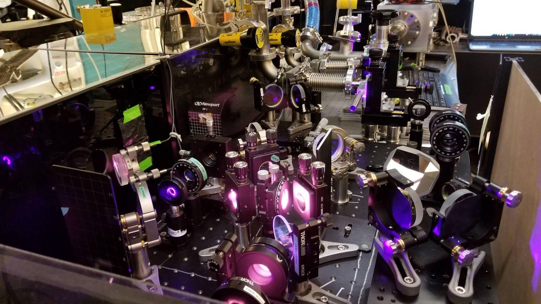 El equipamiento usado en los experimentos para demostrar el hallazgo de los investigadores españoles.