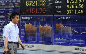 El Nikkei cae después de que el PIB creciese menos de lo previsto