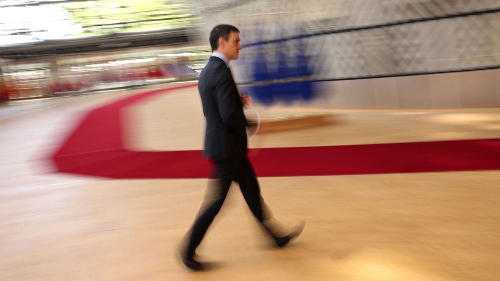 Foto: Pedro Sánchez durante la última cumbre europea. (EFE)