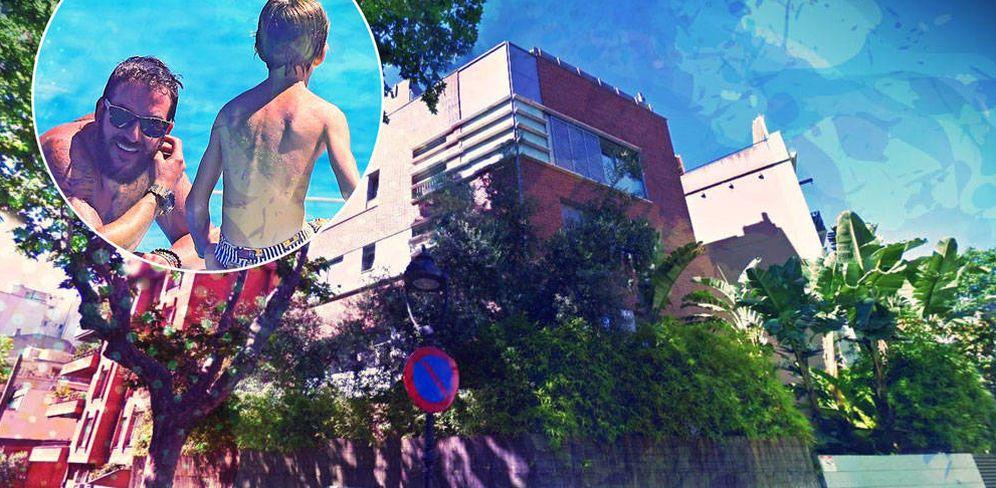 Foto: Sacha, su padre, Borja Thyssen, y la casa de Sarriá en Barcelona. (Vanitatis)
