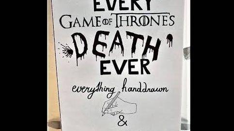 Así se ven en tinta todas las muertes de personajes importantes de Juego de Tronos