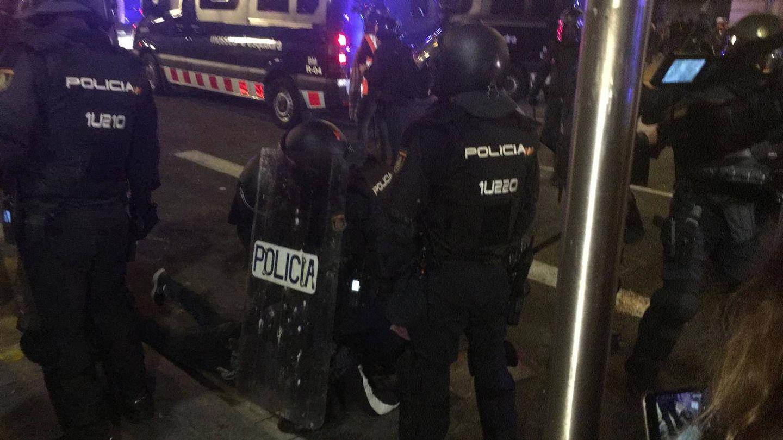 Primer detenido. (Marcos García Rey)