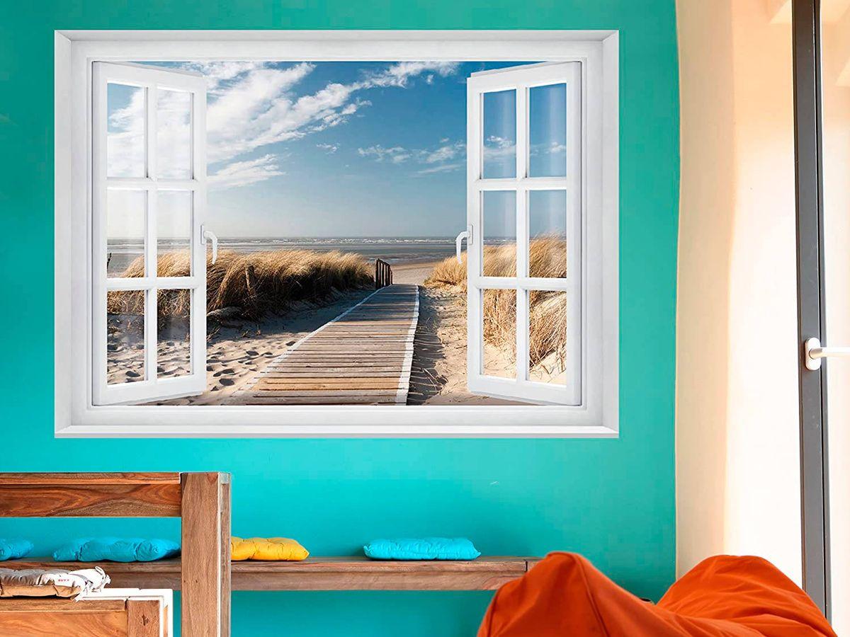 Foto: Papeles de pared que harán que tu habitación parezca más grande. (Amazon)