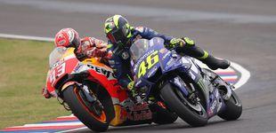 Post de Márquez contesta en la pista: celebra su triunfo en la meta de Austin pidiendo calma
