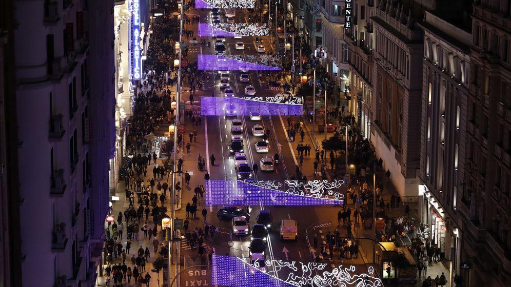 Foto: Cortes de tráfico en el centro de la ciudad durante la temporada navideña. (EFE)