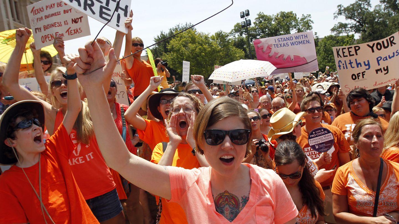 Manifestación de defensores del aborto celebrada en Austin, Texas (Reuters).