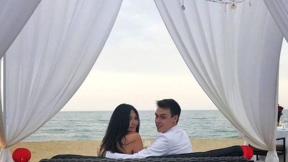 Foto: Louis Ducruet y Marie Chevallier en una imagen de Instagram en la que anuncian su boda.