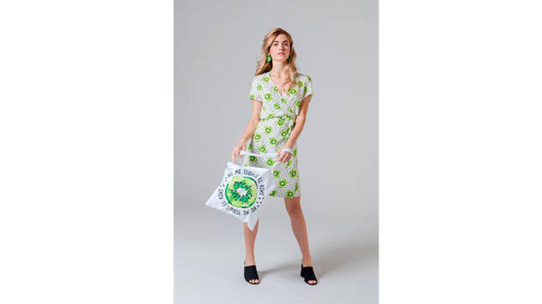 Vestido cruzado - Kiwi