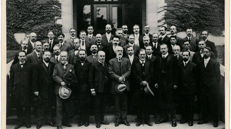 Algunos de los participantes en el aniversario de la Clark University.
