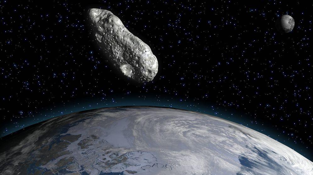 Foto: Reconstrucción de un asteroide pasando junto a la Tierra. (Science Photo)