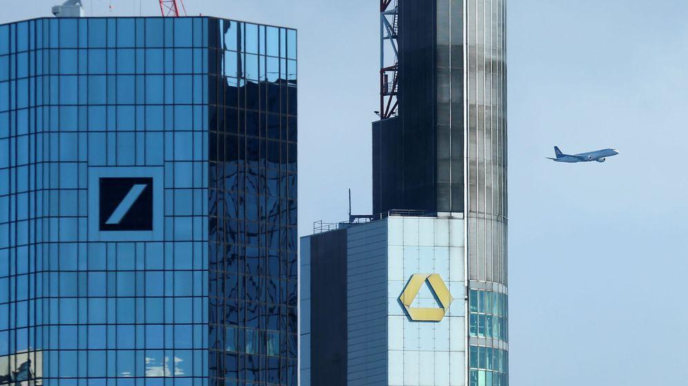 Foto: Vista de las sedes de Deustche Bank y Commerzbank (Reuters)